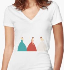 The Selection Trilogy Silhouettes Women's Fitted V-Neck T-Shirt