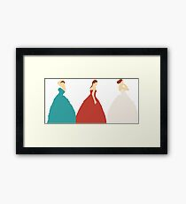 The Selection Trilogy Silhouettes Framed Print