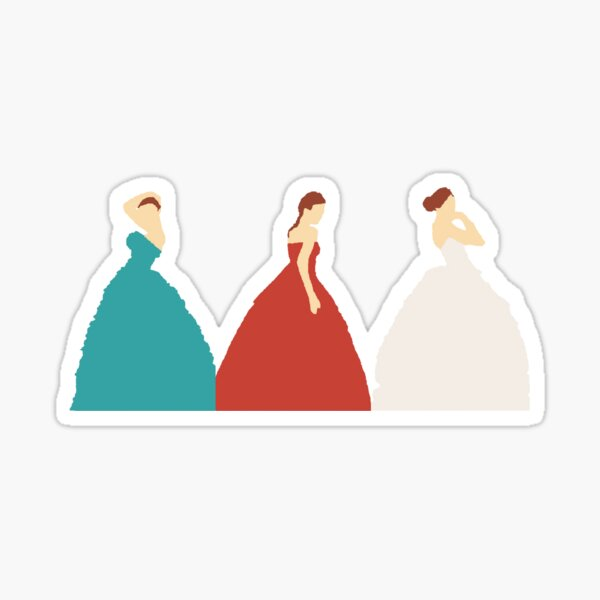The Selection Trilogy Silhouettes Sticker