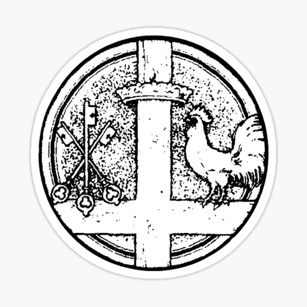 St. Peter Symbol - white bkg Sticker