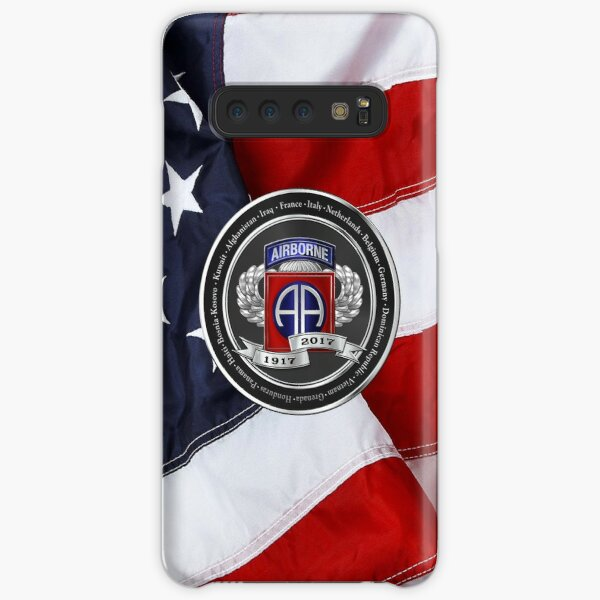 82nd Airborne Division 100th Anniversary Medallion over American Flag Samsung Galaxy Snap Case