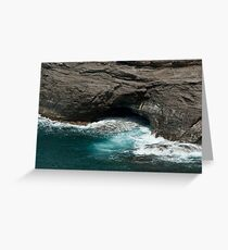 Ocean Cave Greeting Card