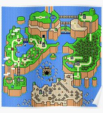 Super Mario World - Map  Poster