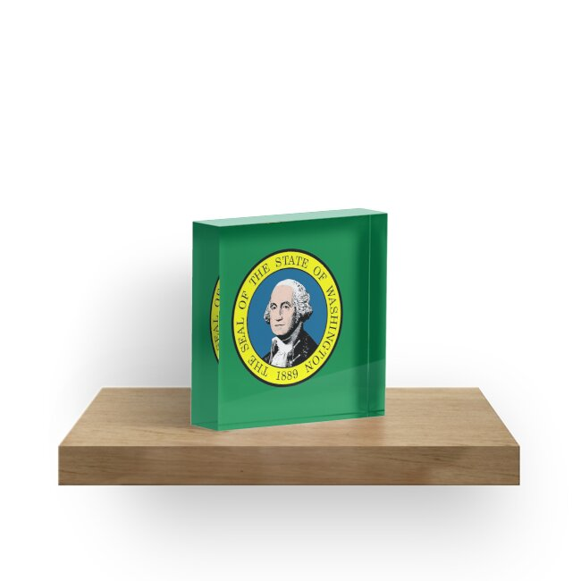 Bloques acrílicos «Bandera del estado de Washington» de pdgraphics ...