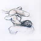 Reclining Female Nude with tattoo by Roz McQuillan