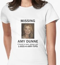 Amy Dunne Missing Poster Womens Fitted T-Shirt