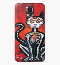 Day of the Dead Sugar Skull Cat Case/Skin for Samsung Galaxy
