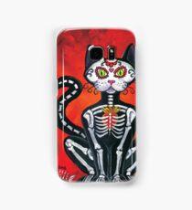 Day of the Dead Sugar Skull Cat Samsung Galaxy Case/Skin