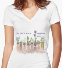 """""""They Tried to bury Us"""" Water Colour Women's Fitted V-Neck T-Shirt"""