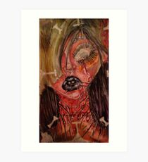 Gorey Girl Art Print