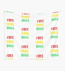 Vybz Kartel Free Worl Boss T-shirt & More Wall Tapestry