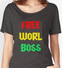 Vybz Kartel Free Worl Boss T-shirt & More Women's Relaxed Fit T-Shirt
