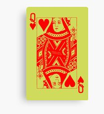 QUEEN OF HEARTS-RED Canvas Print