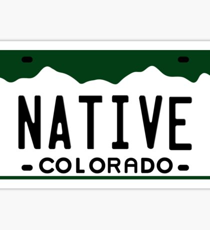 Colorado License Plate - Native Edition Sticker