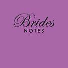 Purple Brides Wedding Notebook by Melissa Park
