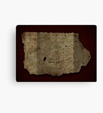Goonies Treasure Map Canvas Print