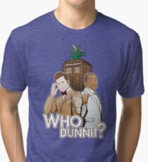 Who Dunnit? Psych Doctor Who Tri-blend T-Shirt