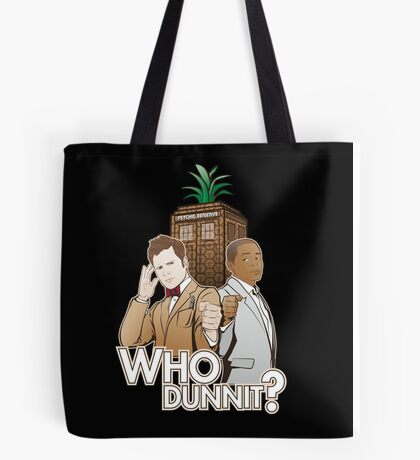 Who Dunnit? Psych Doctor Who Tote Bag