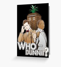 Who Dunnit? Psych Doctor Who Greeting Card