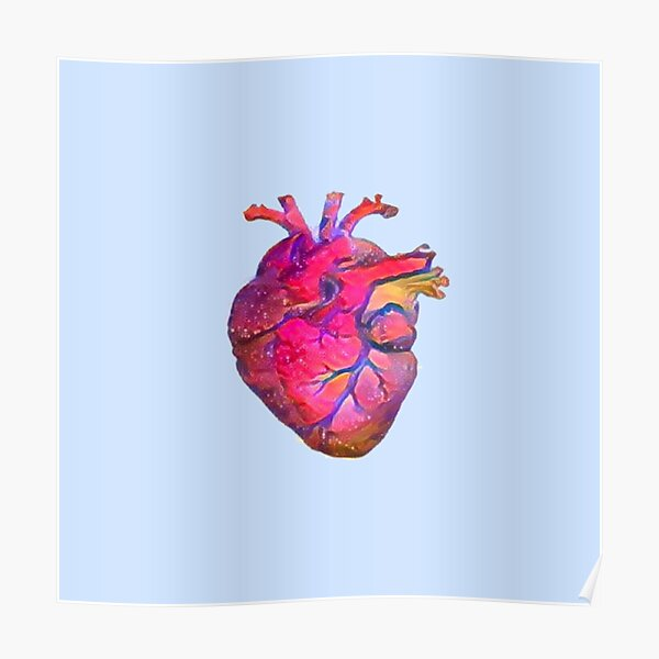 Anatomical Heart ALTERED PINK Poster