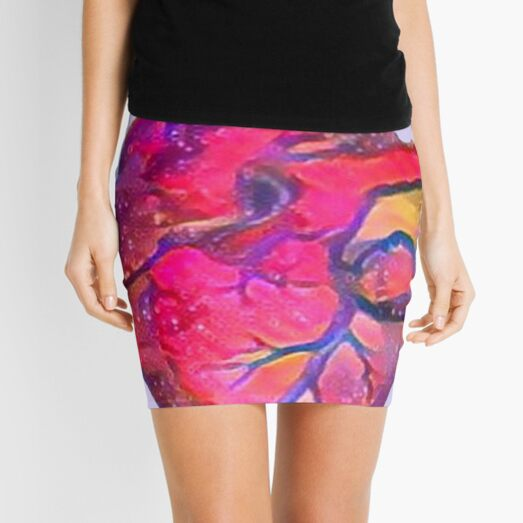 Anatomical Heart ALTERED PINK Mini Skirt