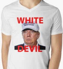 White Devil Trump Shirt Men's V-Neck T-Shirt