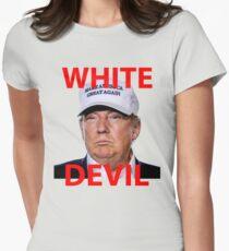 White Devil Trump Shirt Womens Fitted T-Shirt
