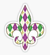 Mardi Gras Argyle Sticker