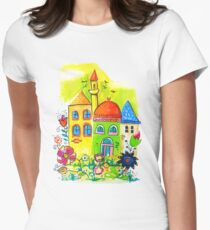 Awesome Cute Village T-Shirt Womens Fitted T-Shirt