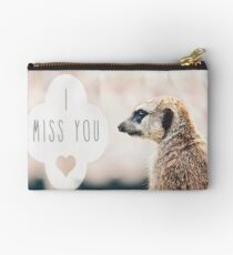 Miss You Meerkat Studio Pouch
