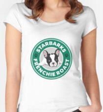 Starbarks Frenchie Roast - Starbucks Women's Fitted Scoop T-Shirt