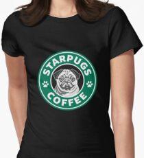 Camiseta entallada para mujer Star Pugs Coffee - Starbucks