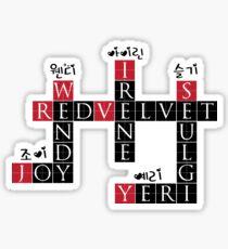 RED VELVET Kreuzworträtsel Sticker