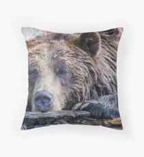 Grizzly Pose Throw Pillow