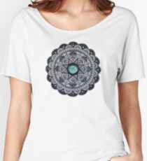 Green Marble Mandala  Women's Relaxed Fit T-Shirt