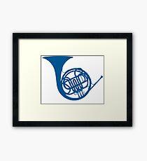 Blue French Horn Framed Print