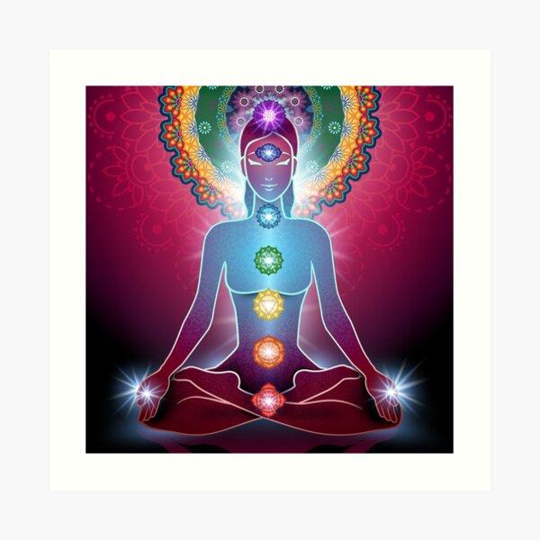 7 chakras armonía Lámina artística
