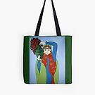 Girl with Flowers Tote by Shulie1