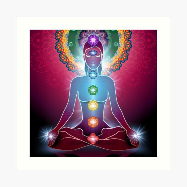 7 chakras armonía energía Lámina artística