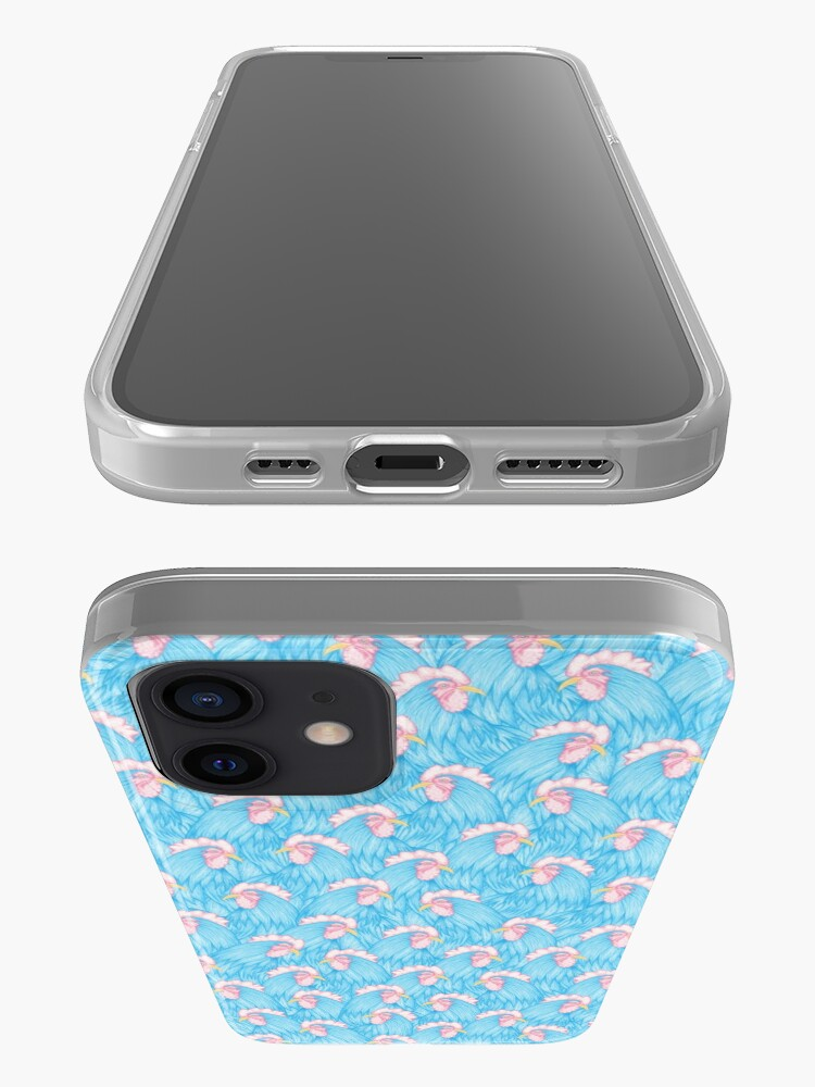 Alternate view of Diurnal (Pattern of Blue Rooster) iPhone Case & Cover