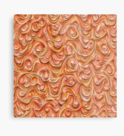Surface texture #DeepDream #Art Red Metal Print