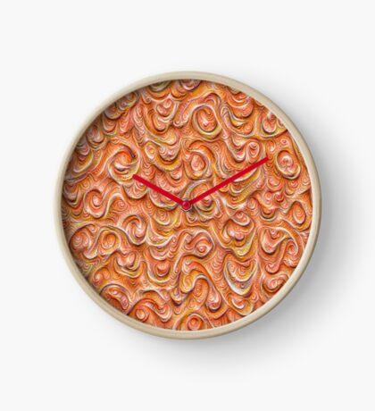 Surface texture #DeepDream #Art Red Clock