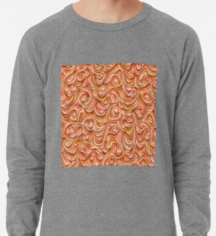 Surface texture #DeepDream #Art Red Lightweight Sweatshirt