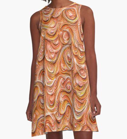 Surface texture #DeepDream #Art Red A-Line Dress