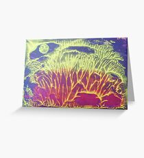 """""""Moonlit Forest"""" original abstract artwork by Laura Tozer Greeting Card"""