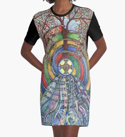 Christ Centred Living Graphic T-Shirt Dress
