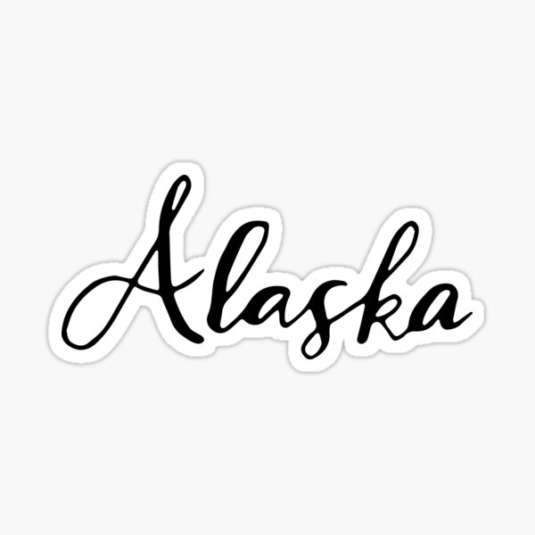 Alaska (AK; Alaska) Sticker