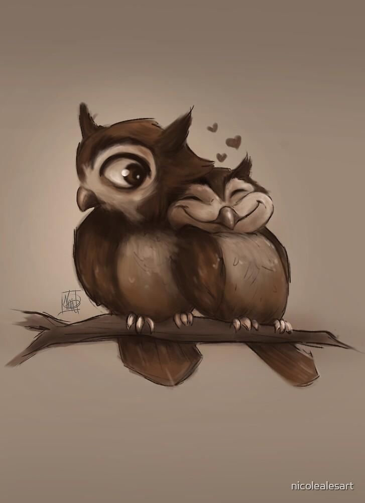 Owl Love You by nicolealesart