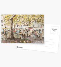 Market Scene, France Postcards