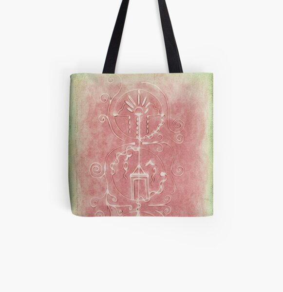 Watermelon House All Over Print Tote Bag